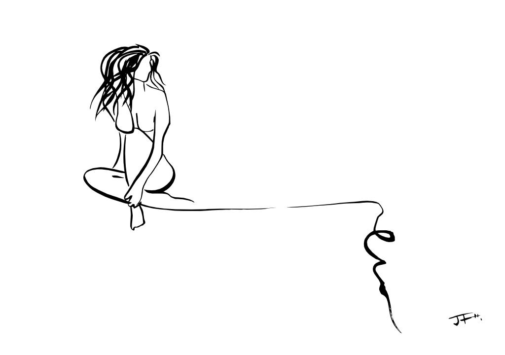 Chica sentada 2