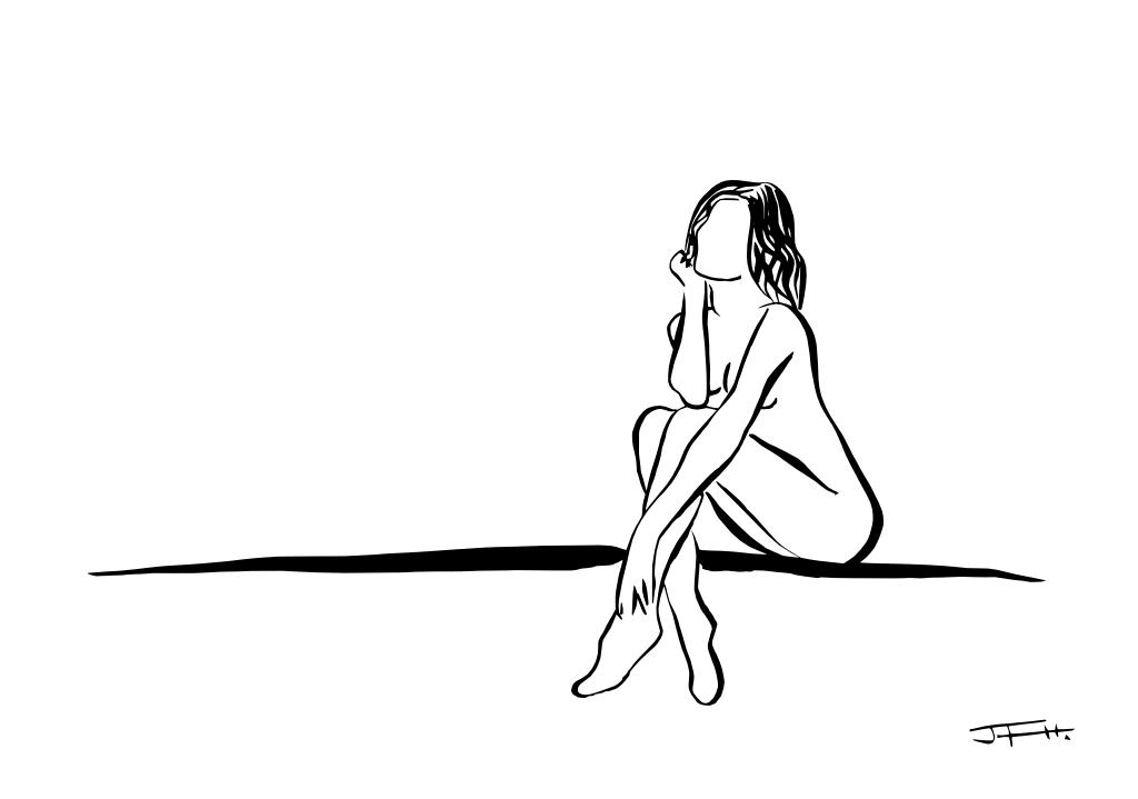 Chica sentada 3