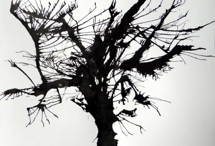 Árbol de tinta soplada
