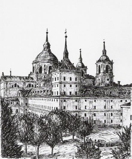 Monasterio de San Lorenzo del Escorial desde Florida
