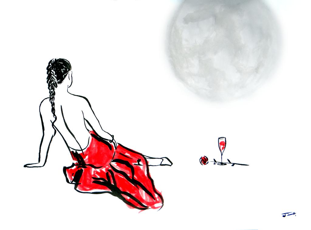 La chica y la luna