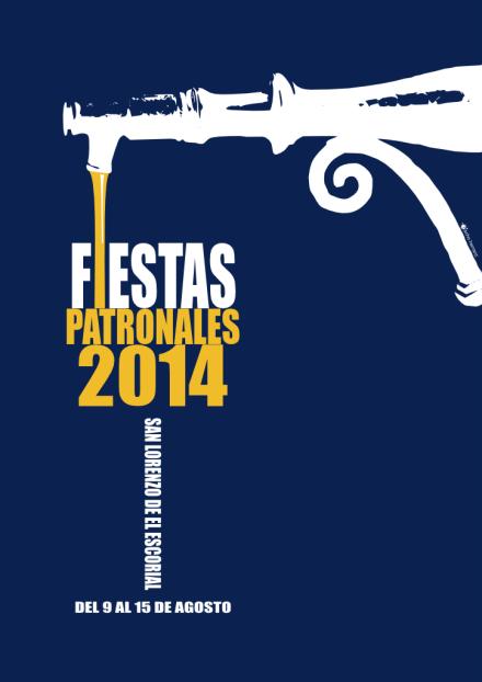 Cartel de las fiestas de San Lorenzo de el Escorial 2014