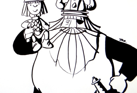 Vickie el Vikingo y Halvar de Flake