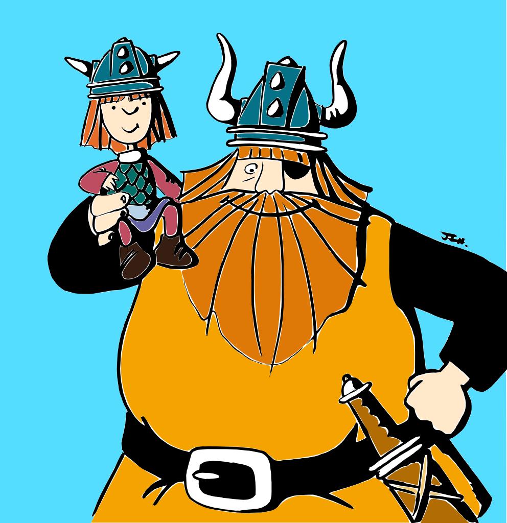 Vickie el Vikingo y Halvar de Flake (color)