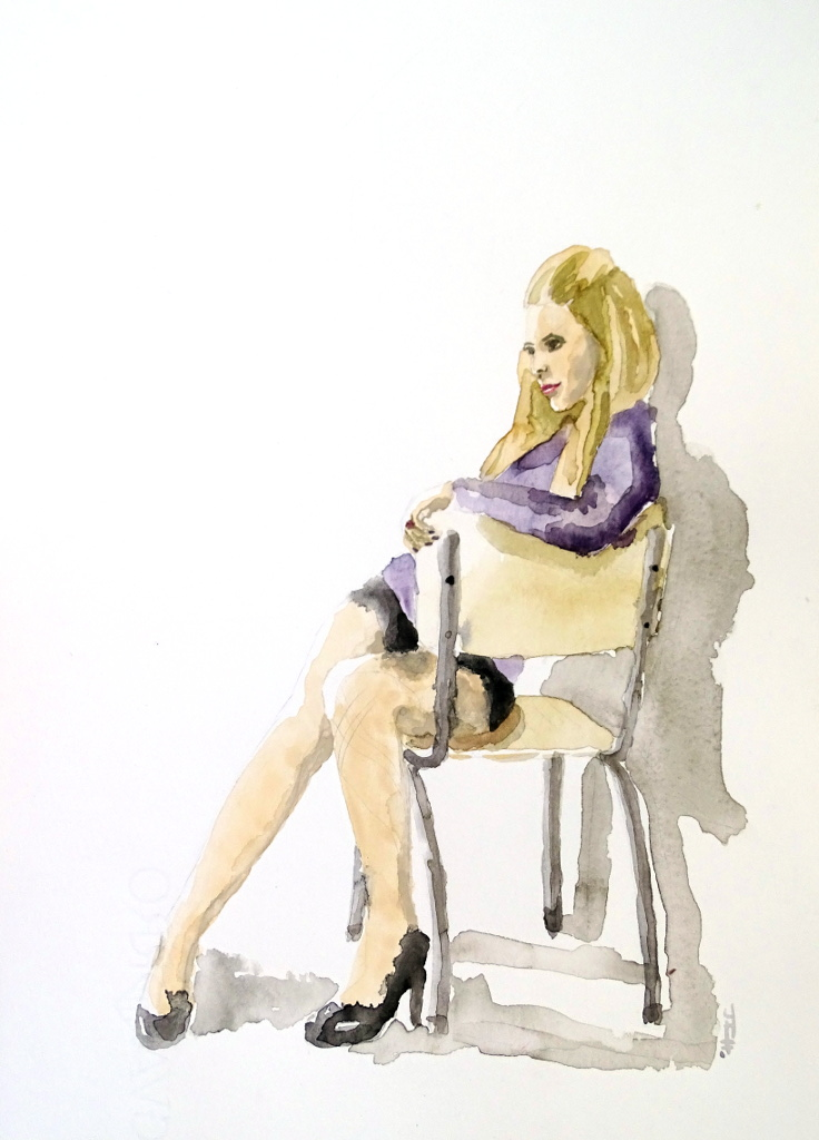 Sexta acuarela. Avril Lavigne
