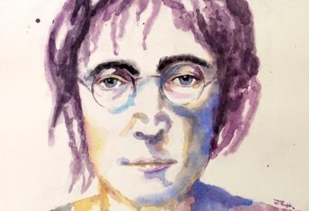 Tercera acuarela. John Lennon